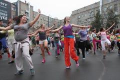 Zumba fitness aerobics Royalty Free Stock Photo