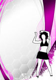 Zumba fitness dance background Royalty Free Stock Photography