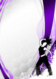 Zumba fitness dance background Stock Photo