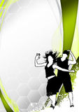Zumba fitness dance background Royalty Free Stock Image