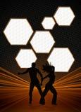 Zumba fitness dance background Stock Photography