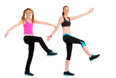 Zumba fitness dance move. On white background Stock Photography
