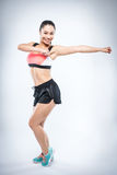 Zumba Fitness Girl Royalty Free Stock Images