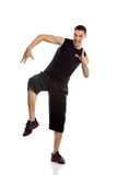 Zumba fitness man dancing Stock Images