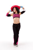 Zumba instructor with hat Royalty Free Stock Photography