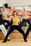Zumba or Jazzdance - young people dancing Stock Photo