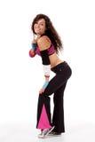 Zumba Lehrer in der Tanzhaltung Stockfotos