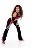 Zumba teacher in action Royalty Free Stock Photography