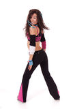 Zumba teacher moving Stock Image