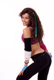 Zumba teacher showing move Royalty Free Stock Images