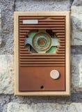 Zumbador retro del intercomunicador Foto de archivo libre de regalías