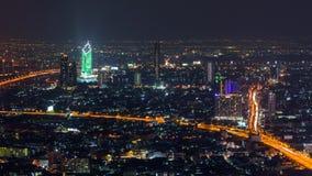 Zumbe para fora a opinião alta de lapso de tempo da cidade de Banguecoque vídeos de arquivo