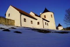 Zumberk forteca, republika czech, Południowa cyganeria obraz stock