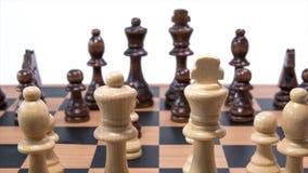 Zumbido da placa de xadrez para fora video estoque
