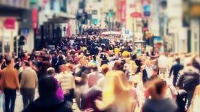 Zumbido de Bruxelas do lapso de tempo do tráfego pedestre da cidade vídeos de arquivo