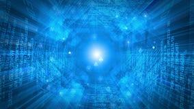 Zumbido de controle remoto do túnel dos dados ilustração royalty free