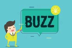 Zumbido do texto da escrita da palavra O conceito do negócio para do movimento a atmosfera rapidamente do excitamento e a ativida ilustração stock