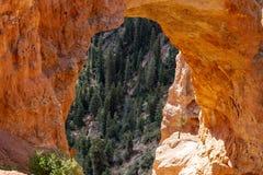 Zumbido em detalhe veja da ponte natural em Bryce Canyon National Park imagem de stock royalty free