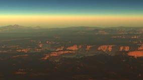 Zumbido extremo de Grand Canyon para fora, metragem conservada em estoque filme