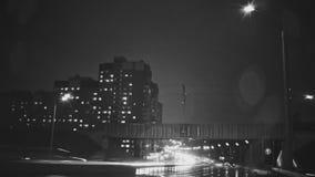 Zumbido noir de Kazan da noite do lapso de tempo do tráfego filme