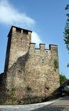 Zumelle城堡,在贝卢诺,意大利,中世纪墙壁 免版税库存图片