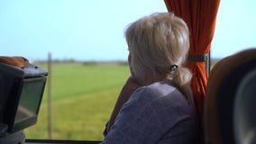 Zummi su un passeggero in una vettura archivi video
