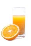 Zumo anaranjado y de naranja Foto de archivo libre de regalías