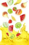 Zumo de fruta Foto de archivo libre de regalías