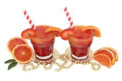 Zumo de fruta de la naranja de sangre Foto de archivo libre de regalías