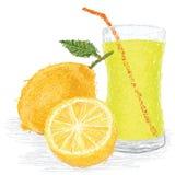 Zumo de fruta del limón Imagen de archivo libre de regalías