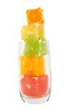 Zumo de fruta natural con el alto contenido de la fibra Imagen de archivo libre de regalías
