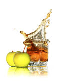 Zumo de manzana Fotografía de archivo libre de regalías
