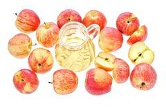 Zumo de manzana Imagen de archivo libre de regalías