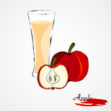Zumo de manzana libre illustration
