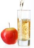 Zumo de manzana fresco Imagen de archivo libre de regalías
