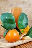 Zumo de naranja Foto de archivo libre de regalías