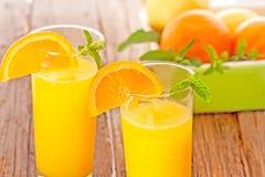 Zumo de naranja Fotografía de archivo libre de regalías