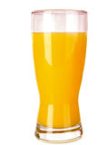 Zumo de naranja aislado Imagen de archivo
