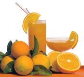 Zumo de naranja aislado Fotos de archivo