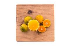 Zumo de naranja aislado foto de archivo libre de regalías
