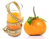 Zumo de naranja de la dieta Foto de archivo libre de regalías