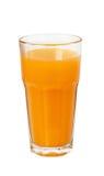 Zumo de naranja en un vidrio Fotografía de archivo libre de regalías