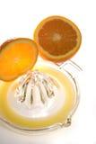 Zumo de naranja exprimido fresco Foto de archivo libre de regalías