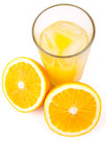 Zumo de naranja fresco Imagen de archivo