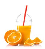 Zumo de naranja fresco imagenes de archivo