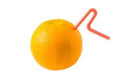 Zumo de naranja fresco Imagen de archivo libre de regalías