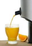 Zumo de naranja recientemente exprimido Fotos de archivo