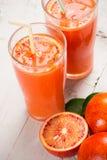 Zumo de naranja sangriento Fotos de archivo libres de regalías