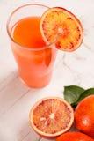 Zumo de naranja sangriento Fotografía de archivo