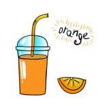 Zumo de naranja, smoothies Imágenes de archivo libres de regalías